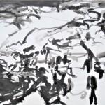 Rock flow 2 1988 ink on paper 56x76cm