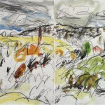 Little valley 2012 charcoal pencil and watercolour on paper 23x30cm