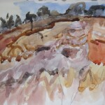 The sand mine 2005 watercolour 17x25cm