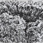 Tejadilla 8 2019              charcoal on paper 59x169cm