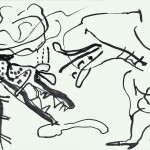 Two Dogs 1991 ink on paper 64x90cm