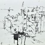 Blot city 1987 ink on paper 54x73cm
