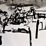 The city and the sky 2 1988 ink on paper 56x76cm Private collection