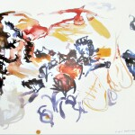 The spirits of birds 2 1988 watercolour 56x76cm Private collection