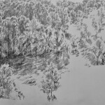 The valley (study 1) 2016  pencil on paper 42x59cm